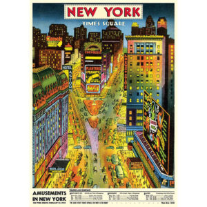 Cavallini Poster Wrap - NYC Times Square