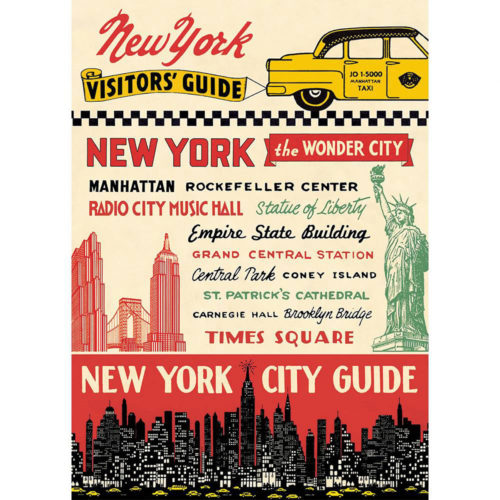 Cavallini Poster Wrap - New York City Guide