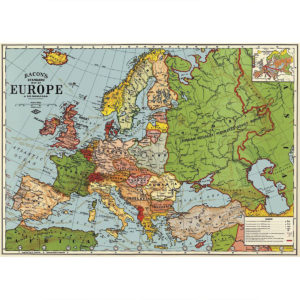 Cavallini Poster Wrap - Europe Map 3