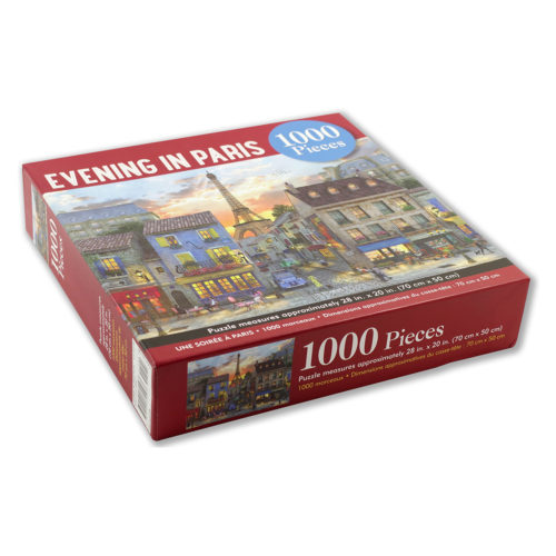 1000 Piece Puzzle - Evening In Paris