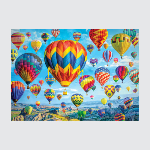 1000 Piece Puzzle - Balloons in Flight