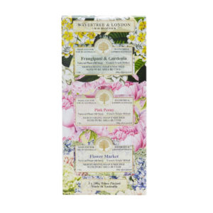 Wavertree & London Soap Trio - Frangipani & Gardenia, Pink Peony & Flower Market