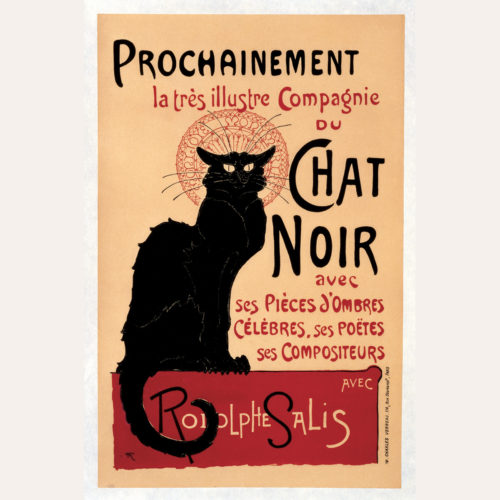 Istituto Fotocromo Italiano Poster Wrap - Chat Noir
