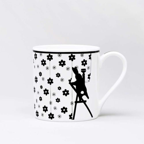 HamMade Fine China Mug - Wallpapering Rabbit