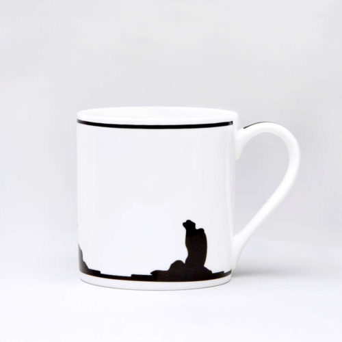 HamMade Fine China Mug - Yoga Rabbit