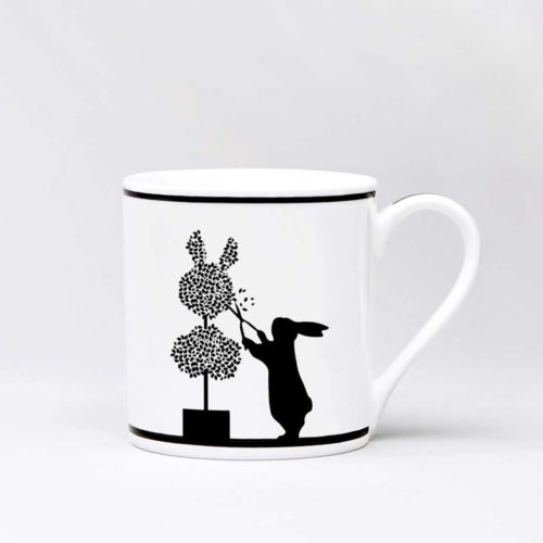 HamMade Fine China Mug - Gardening Rabbit