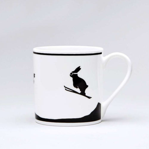HamMade Fine China Mug - Jumping Rabbit