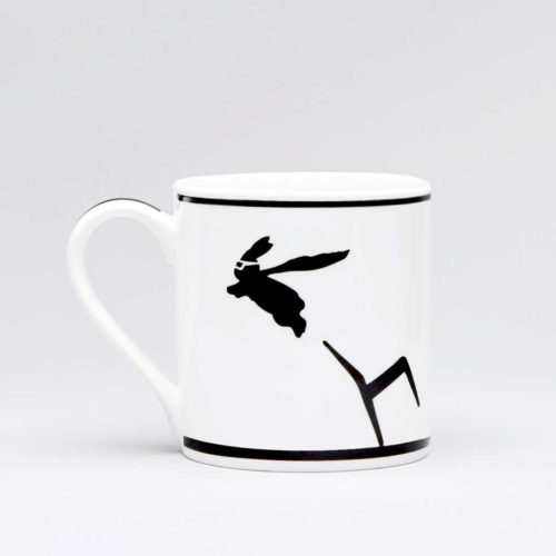 HamMade Fine China Mug - Superhero Rabbit