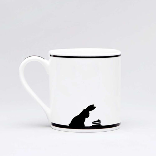 HamMade Fine China Mug - Cake Loving Rabbit