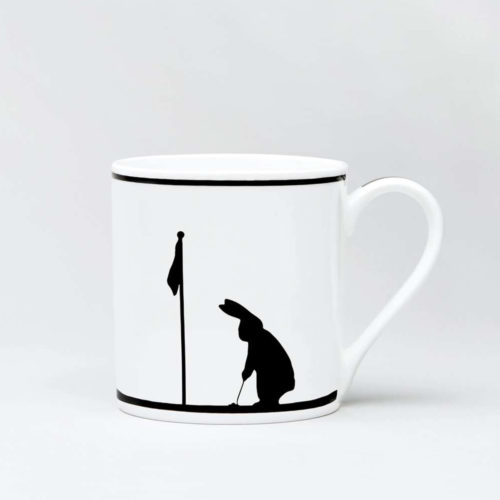 HamMade Fine China Mug - Golfing Rabbit