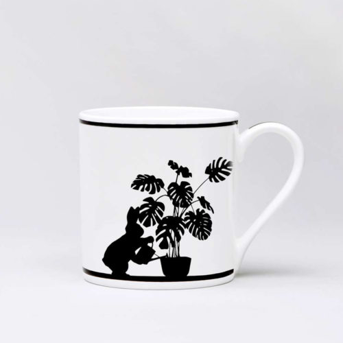 HamMade Fine China Mug - Watering Rabbit