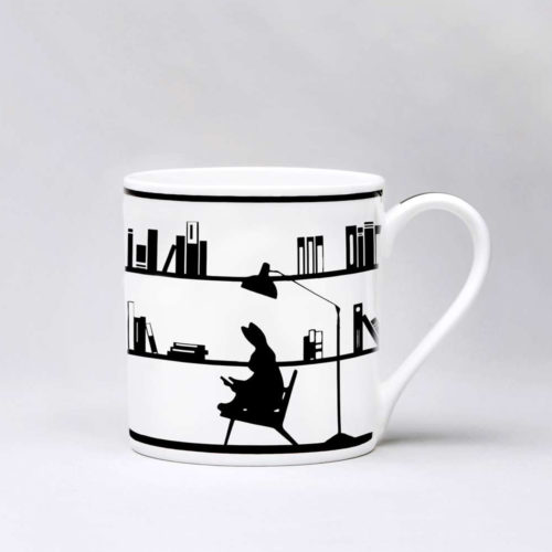 HamMade Fine China Mug - Reading Rabbit