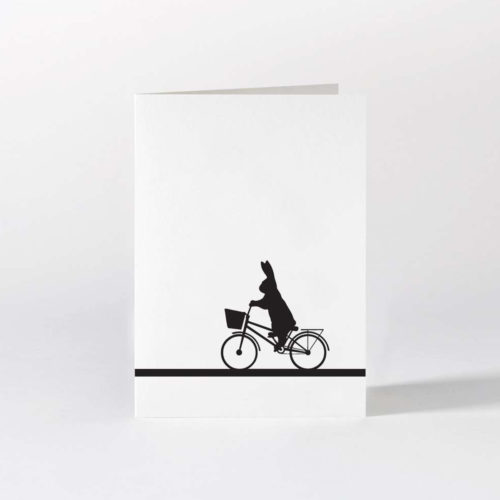 HamMade Card - CIty Bike Rabbit