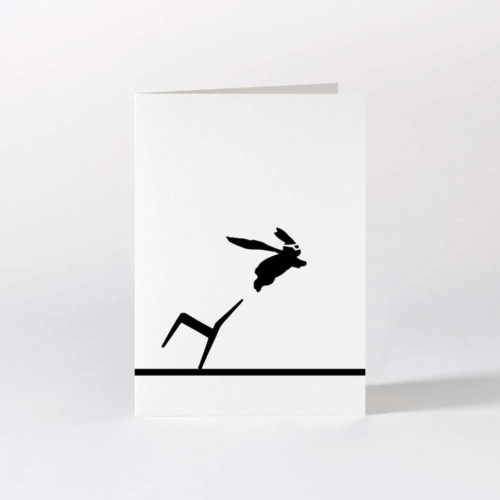 HamMade Card - Superhero Rabbit