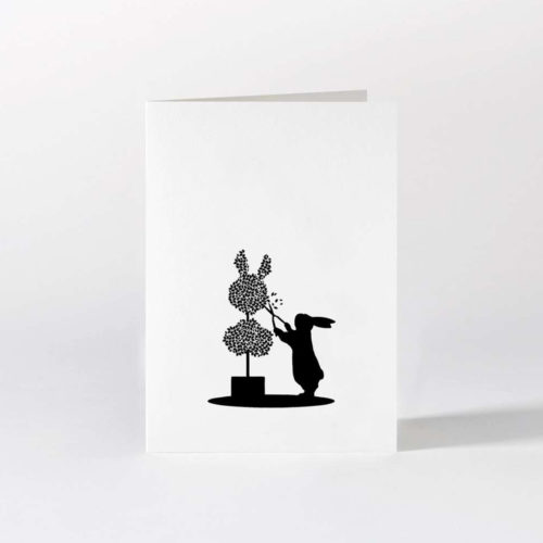 HamMade Card - Topiary Rabbit