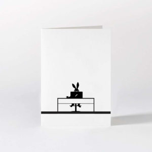 HamMade Card - Working Rabbit