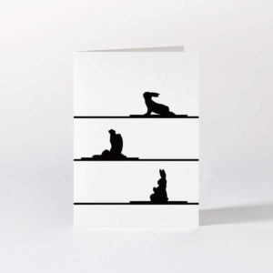 HamMade Card - Yoga Rabbit