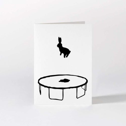 HamMade Card - Bouncing Rabbit