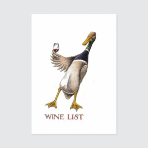 Simon Drew Card - Wine List