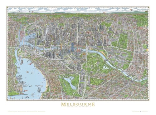 The Melbourne Map Full Colour Poster - Large