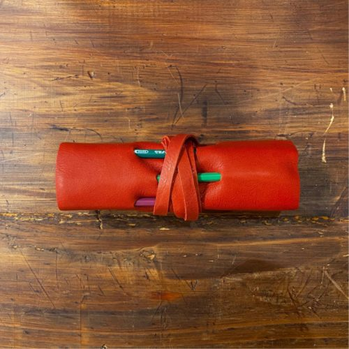 Manufactus Leather Pencil Wrap - Red