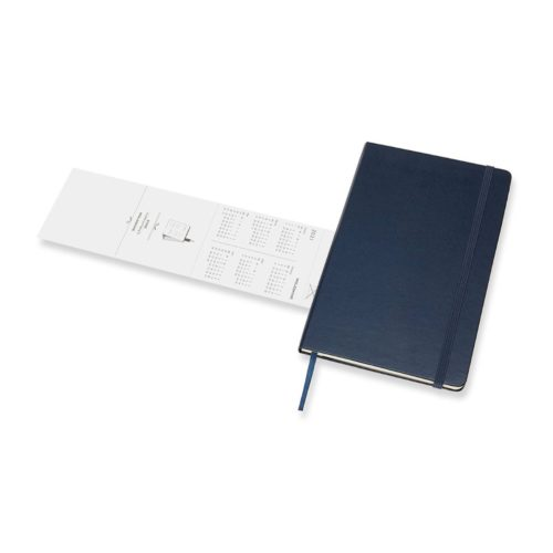 Moleskine 18 Month Hard Cover Weekly Diary - Large Saphire Blue