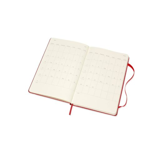 Moleskine 18 Month Hard Cover Weekly Diary - Large Scarlett Red