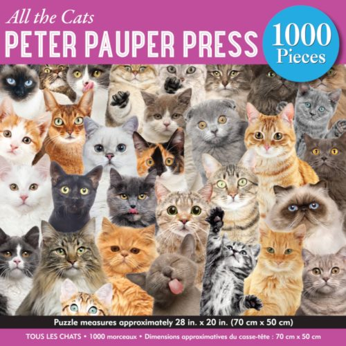 1000 Piece Puzzle - All The Cats