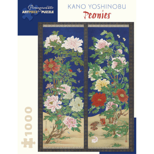 Pomegranate 1000 Piece Puzzle - Peonies by Kano Yoshinobu