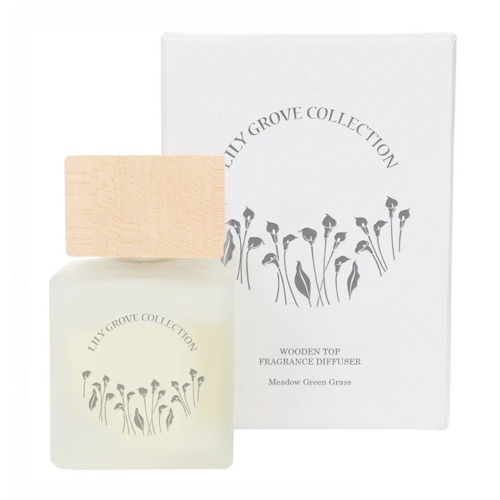 Lily Grove Wood Top Diffuser - Meadow Green Grass