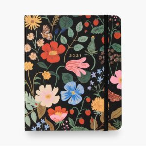 Rifle Paper Co – 2021 Covered Binder Planner – Strawberry Fields