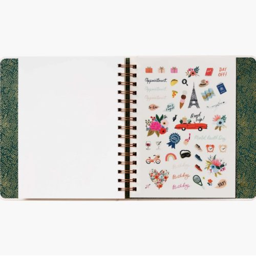 Rifle Paper Co - 2021 Covered Binder Planner - Wild Garden