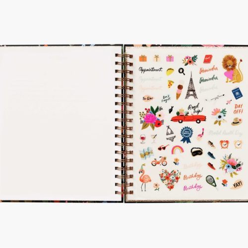 Rifle Paper Co - 2021 Hard Cover Spiral Bound Planner - Strawberry Fields