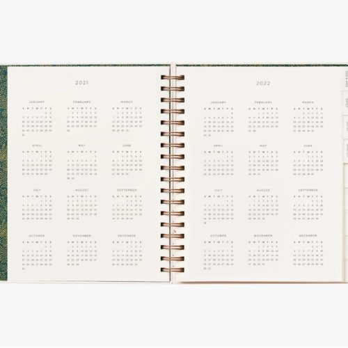 Rifle Paper Co - 2021 Hard Cover Spiral Bound Planner - Wild Garden