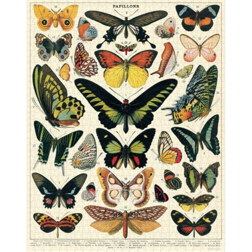 Cavallini & Co. 1000 Piece Puzzle - Butterflies