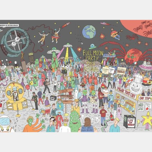 Chantel De Sousa 500 Piece Puzzle - Where's Bowie? In Space