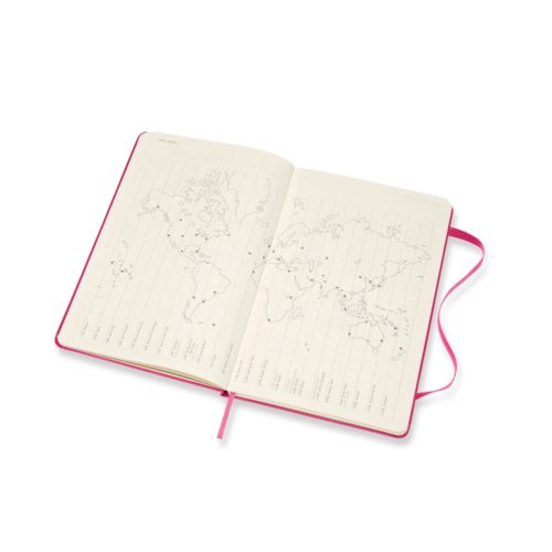 Moleskine - 2021 Hard Cover Diary - Weekly Notebook - Large - Bougainvillea Pink