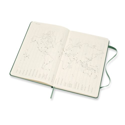 Moleskine - 2021 Hard Cover Diary - Weekly Notebook - Large - Myrtle Green
