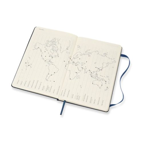 Moleskine - 2021 Hard Cover Diary - Weekly Notebook - Large - Sapphire Blue