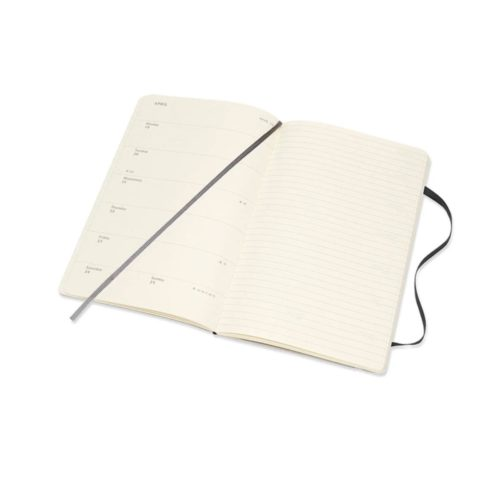 Moleskine - 2021 Soft Cover Diary - Weekly Notebook - Large - Black