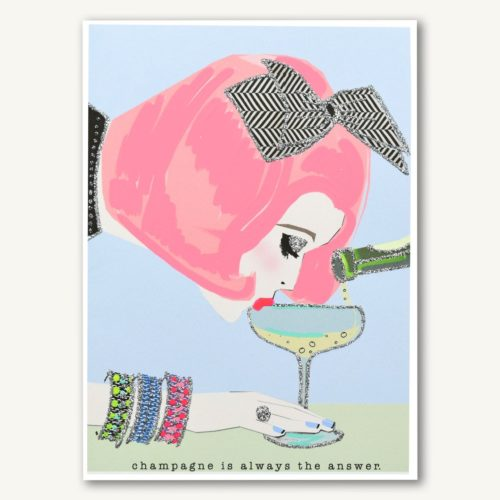 Verrier Card - Champagne Is Always The Answer