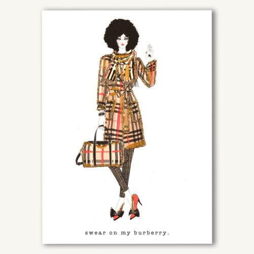 Verrier Card - Swear On My Burberry