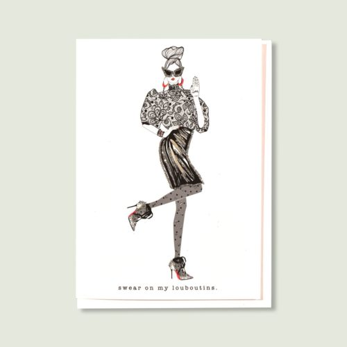 Verrier Card - Swear On My Louboutins