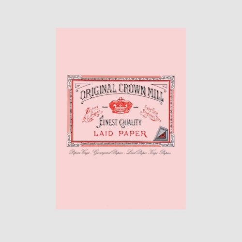 Original Crown Mill Laid Paper Writing Pad 50 Sheets – A5 Pink
