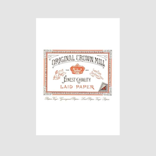Original Crown Mill Laid Paper Writing Pad 50 Sheets – A5 White
