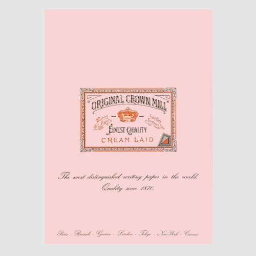 Original Crown Mill Laid Paper Writing Pad 50 Sheets – A4 Pink