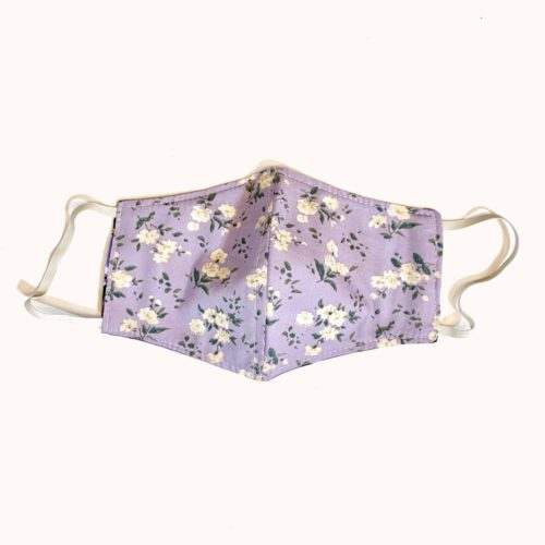 Reversible Cotton Face Mask – Gardenia/Sparrow