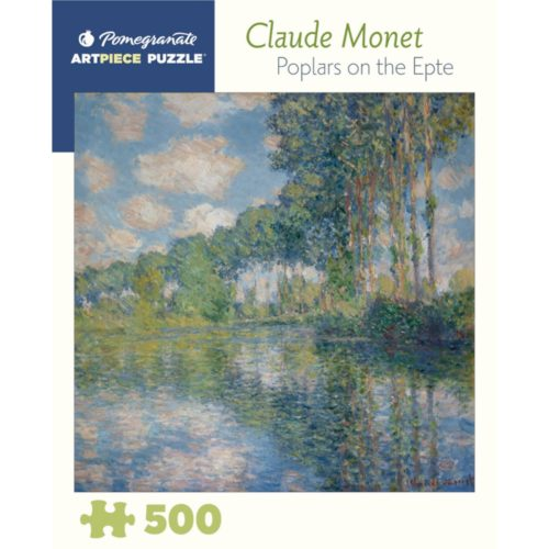 Pomegranate 500 Piece Puzzle - Poplars on the Epte by Claude Monet