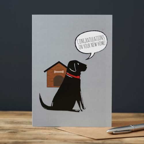 Sweet William Card – Black Labrador New Home