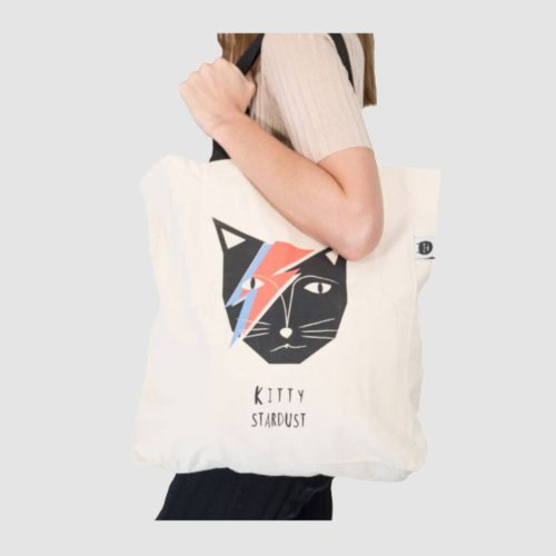 Niaski Large Tote Bag - Kitty Stardust